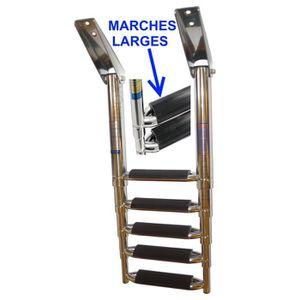 ÉCHELLE - CHAISE DE MÂT Echelle inox 316 Bateau 5 Marches Télescopique Mar