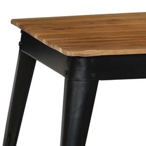 TABLE À MANGER SEULE KKmoon Table de salle à manger en Bois massif Tabl