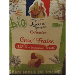 CÉRÉALES PETIT DEJ  LUCIEN GEORGELIN Céréales Croc' Fraise bio - 375 g