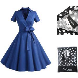 ROBE FindDress Rétro Robe Vintage Années 50 's Style Au
