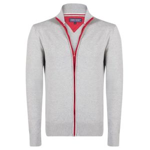 PULL Tommy Hilfiger Homme Pull Fermeture Eclair Gris Sl