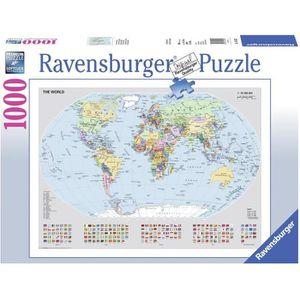 PUZZLE RAVENSBURGER Puzzle 1000 p - Carte du monde politi