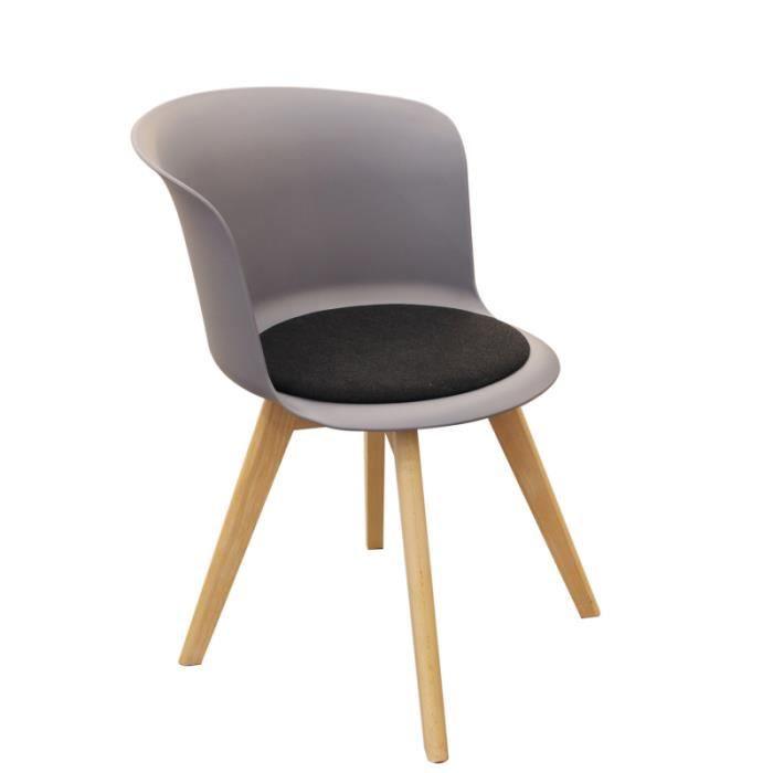 Lot de 2 chaises Enko - Gris