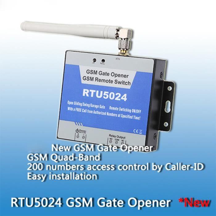 Porte GSM Ouvre relais commutateur de commande d'accès à distance par assistance téléphonique gratuite App MLC70620352A_717