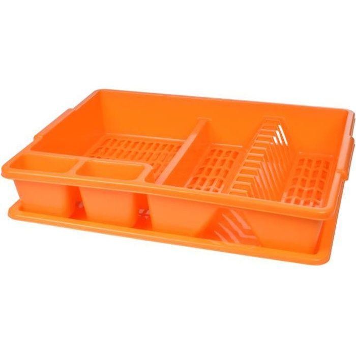 Egouttoir à vaisselle avec plateau Mangue