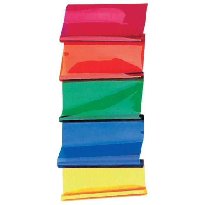 Planche de filtres de couleur 50 x 60 rouges