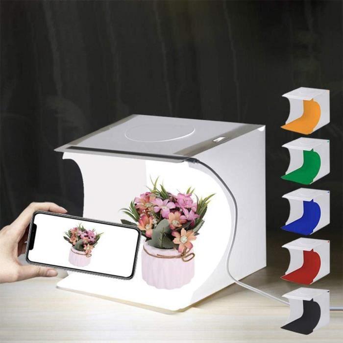 BOITE DE LUMIERE Leic Photo Studio Box Kit de boicircte de Studio Photo Pliable Portable avec lumiegravere LED pour teacuteleacu26