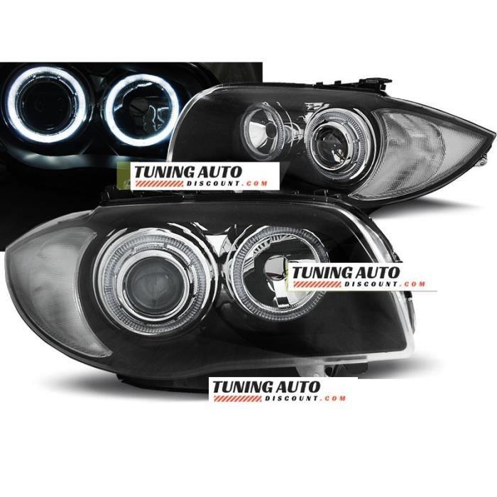 Phares avant BMW 1 e87,-e81 04-11 noir ( 26903 )