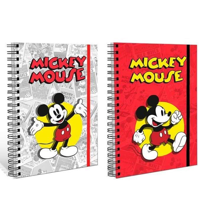 Mickey Mouse WD20184. Cahier à spirale. Modèle aléatoire