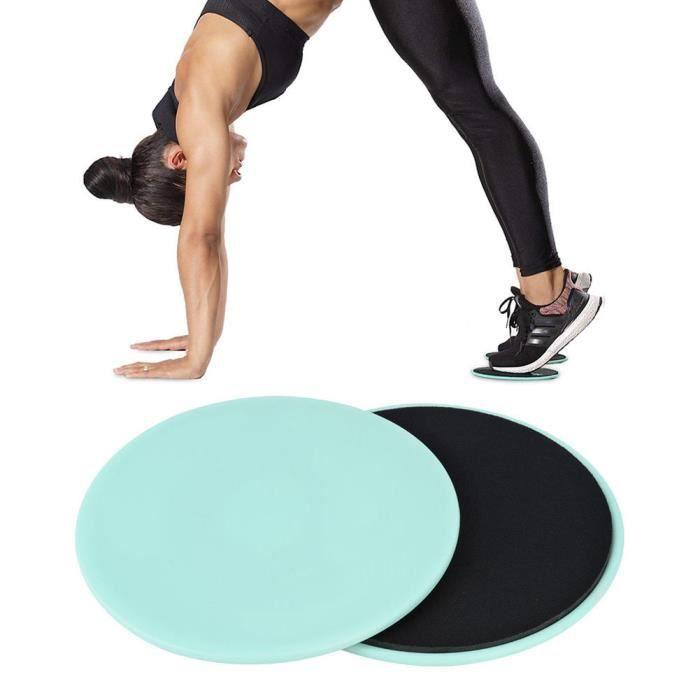 ARAMOX fitness de glisse 2PCS Exercice Glissant Gliding Disc Fitness Core Slider Sport Entraînement complet du corps (vert clair)