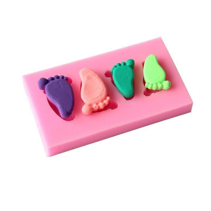 Moule à gateaux,Moule à gaufres antiadhésif Silicone Ustensiles de cuisine, moules à gâteaux pour four - Type Baby Feet Mold