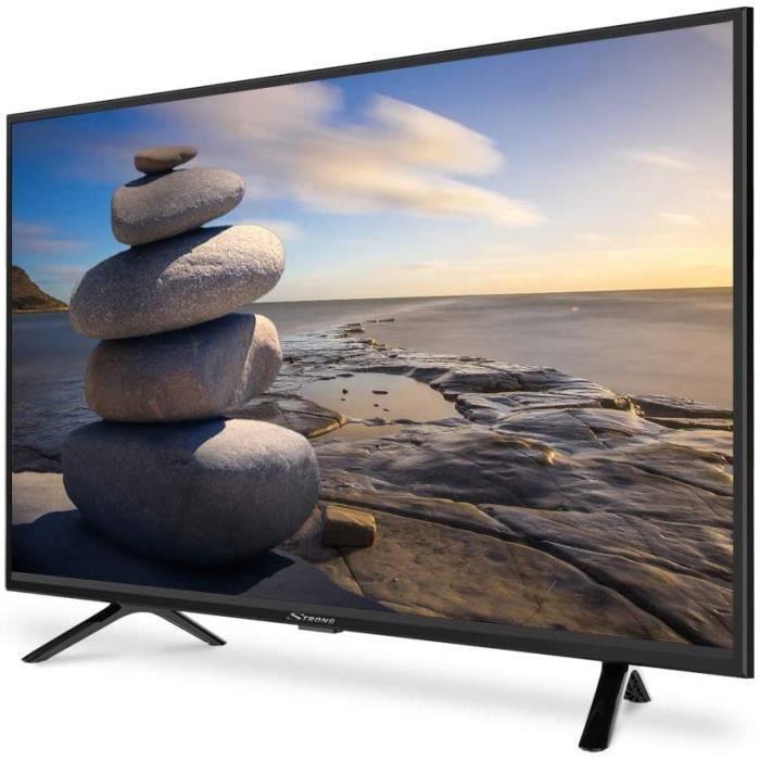 STRONG SRT32HC4043 HD LED TV, écran 80cm, 32 Pouces, Triple Tuner (DVB-T2 HEVC265/C/S2), 60 Hz, Son Dolby Audio Digital, HDMI x2, US
