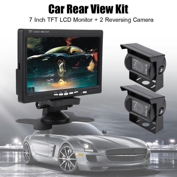 7 pouces TFT LCD moniteur voiture vue arrière caméra de recul de recul Vision nocturne pour camion de bus RV HB0038 -ZOO