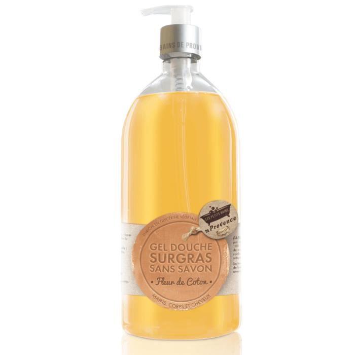 Gel douche surgras sans savon fleur de coton 1 l