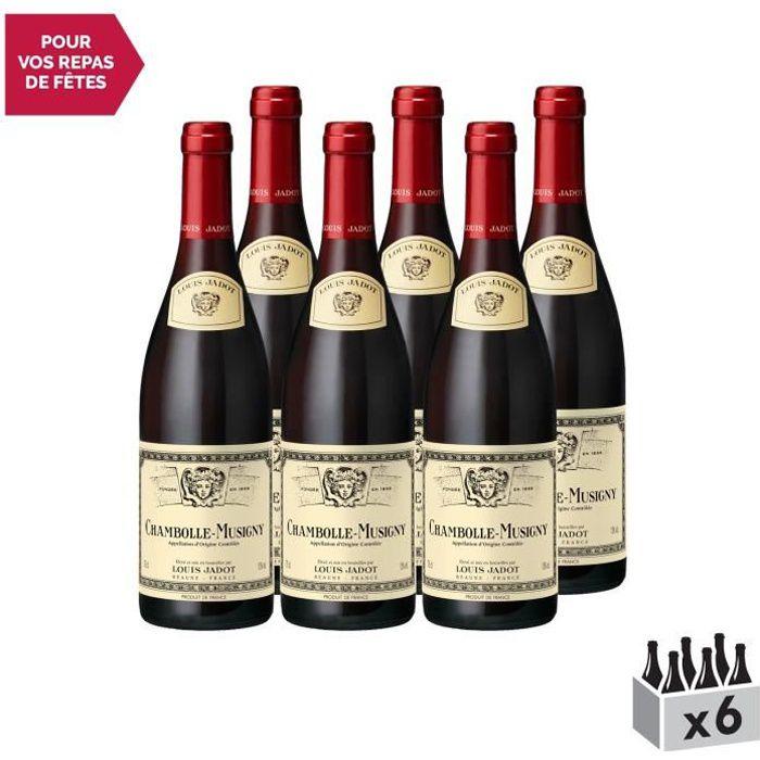 Chambolle-Musigny Rouge 2014 - Lot de 6x75cl - Louis Jadot - Vin AOC Rouge de Bourgogne - Cépage Pinot Noir