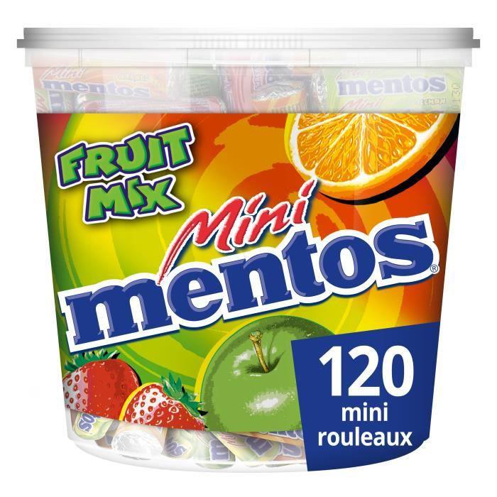 MENTOS Tubo de 120 mini rouleaux - Fruit