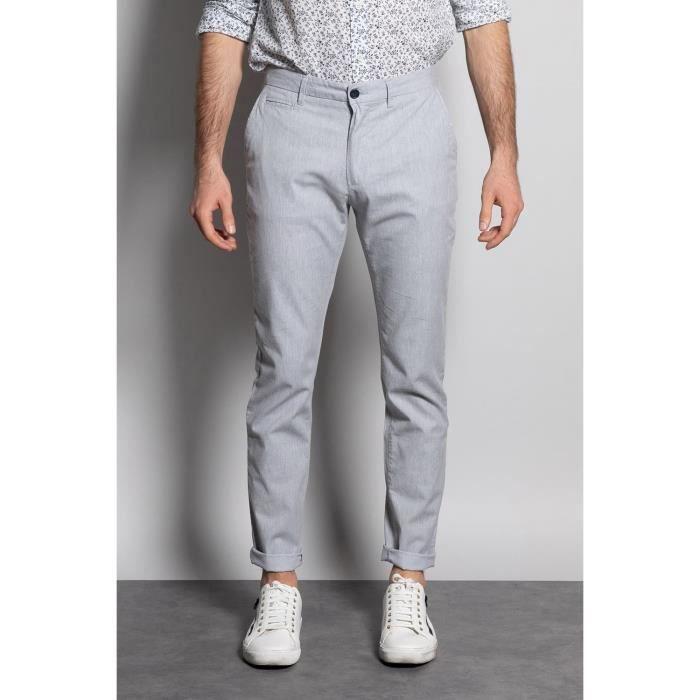 DEELUXE Pantalon chino slim GULLSON Light Grey