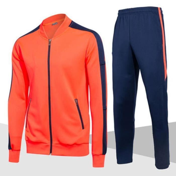 Ensemble de Vetements Homme de Sports Veste Mi Saison+Pantalon Taille Élastiquée Homme de Football Mode
