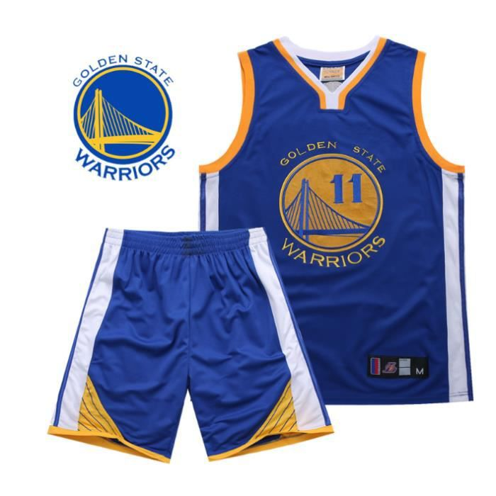 NBA Warriors Golden State # 11 Klay Thompson Broderie Costume Uniforme de basket Basketball clothes