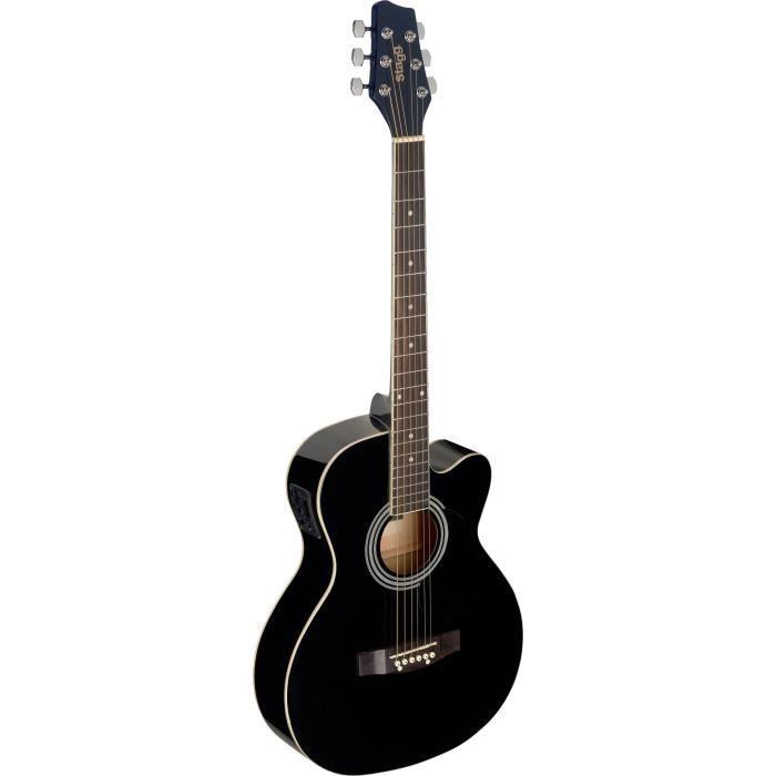 STAGG SA20ACE BLK Guitare Folk Electro - Noir