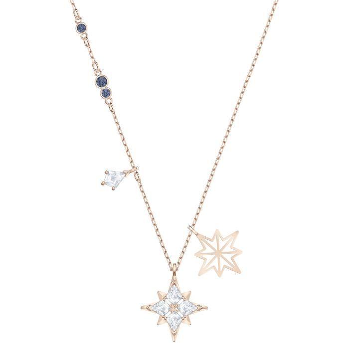 Sautoir - Collier - Collier Swarovski Symbolic Star - Matière:Plaqué