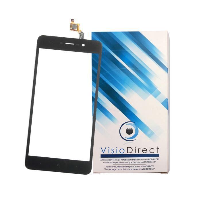 Vitre ecran tactile pour Wiko Lenny 4 plus 5.5- noir téléphone portable -VISIODIRECT