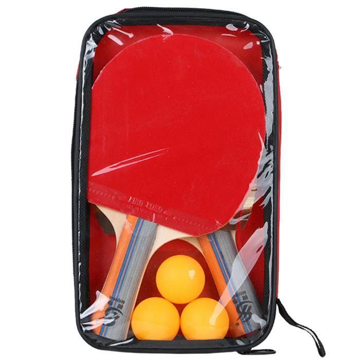 1 set raquette avec balle pratique portable de ping-pong balles de tennis RAQUETTE DE TENNIS DE TABLE - CADRE DE TENNIS DE TABLE