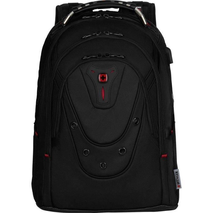Sac à dos pour ordinateur portable Wenger Ibex Deluxe 606493 maxi.: 39,6 cm (15,6) noir 1 pc(s)