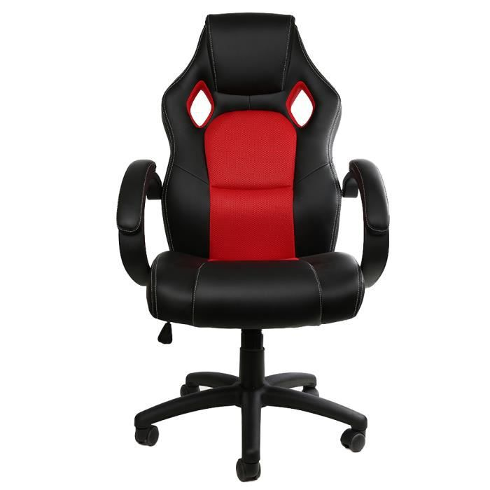 chaise gaming racing chaise moderne confortable ergonomique de bureau gaming pivotant pour gamer. Black Bedroom Furniture Sets. Home Design Ideas