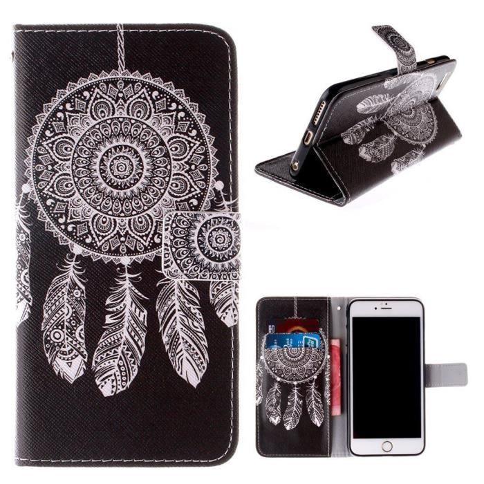 Housse iphone 6 rabat clapet portefeuille dreamcatcher 5 for Coque iphone 6 portefeuille