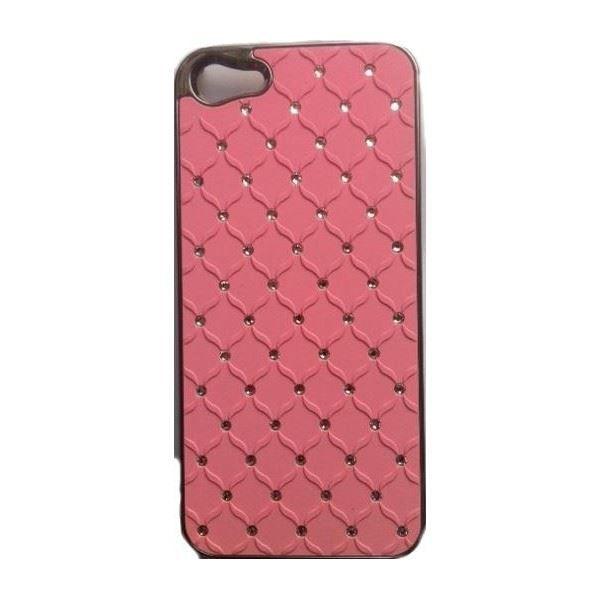 coque iphone 5 aluminium strass rose pale
