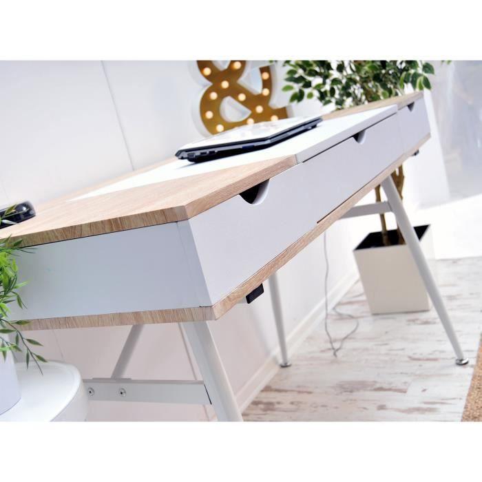 SECRÉTAIRE Bureau scandinave / Bureau design - BODEN - 120 cm
