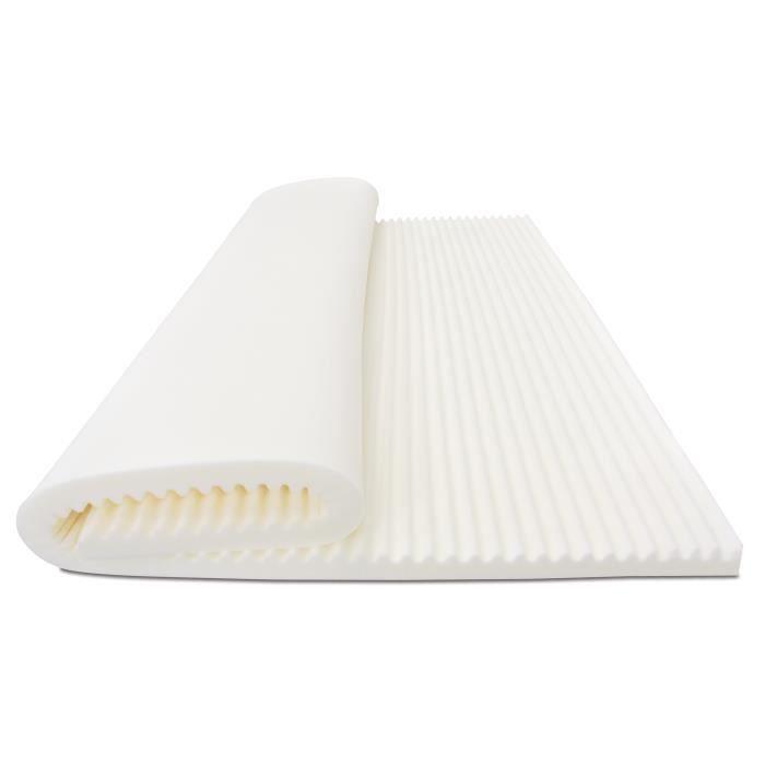 My Lovely Bed Epaisseur 7cm Mousse Visco/élastique Haute densit/é D/éhoussable SurMatelas M/émoire de Forme 90x190//200 cm