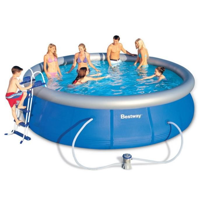 Piscine autoportante ronde fast set pools 457 x 107 cm for Achat piscine autoportante