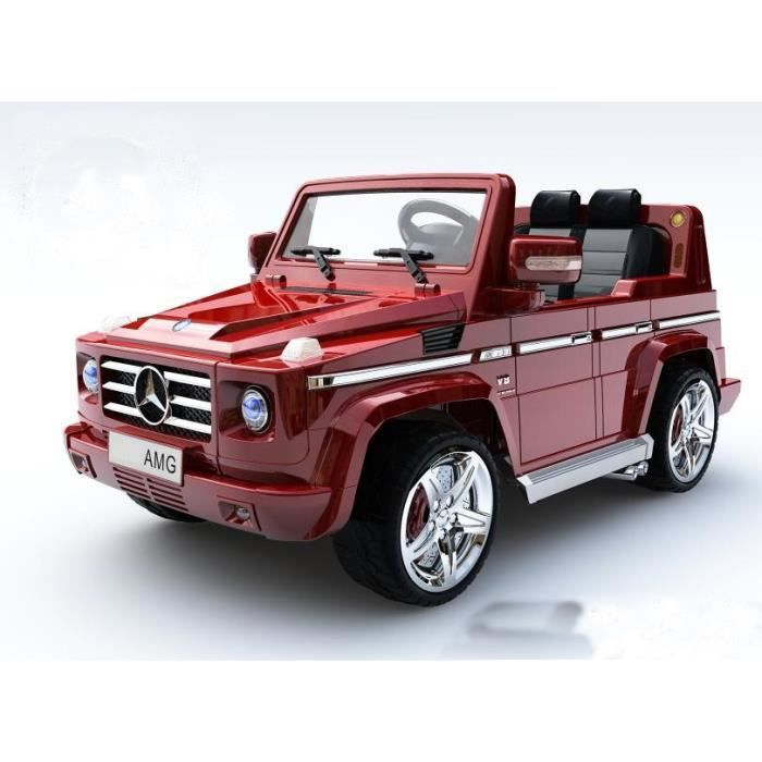mini voiture lectrique enfant g55 mercedes 4x4 rouge. Black Bedroom Furniture Sets. Home Design Ideas