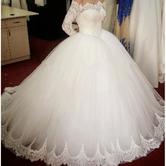 OLALI® Robe de Noiva Princesse Robes De Marié