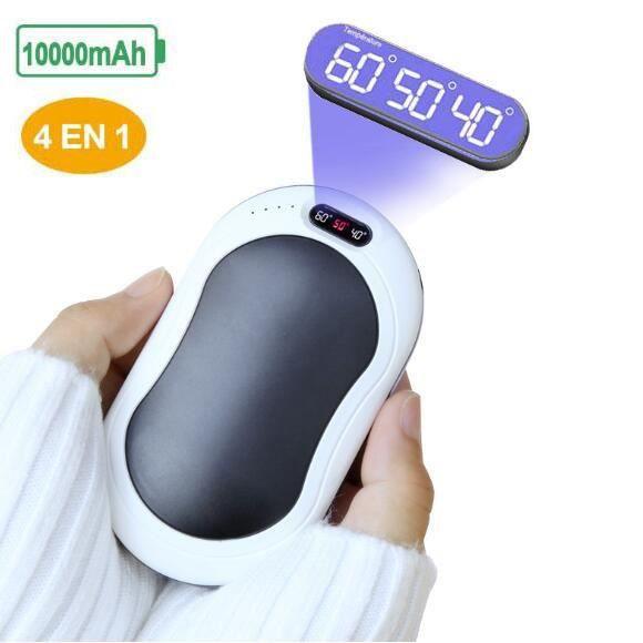 Aodener Chauffe-mains /électrique rechargeable rechargeable avec poche USB double face chauffant /à la main 2400 mAh Meilleur cadeau dhiver en hiver froid pour femme et homme