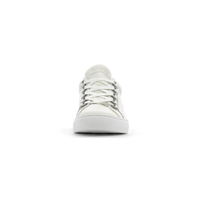 SKECHERS Baskets Side Street Coreset - Femme - Blanc