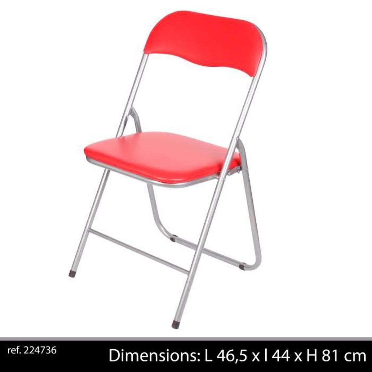 Chaise fauteuil appoint pliante pliable rouge assise for Chaise fauteuil