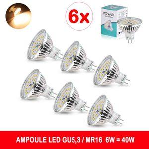 AMPOULE - LED Wowatt 6x MR16 Spot LED, Culot GU5.3 12V 6W Lumièr