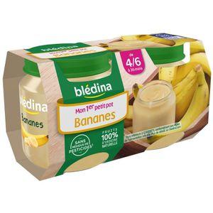 DESSERT FRUITS BÉBÉ BLEDINA Mon 1er petit pot Bananes 2x130g - Dès 4/6