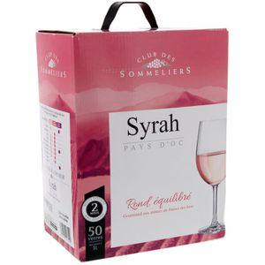 VIN ROSÉ Syrah Vin de pays d'Oc - Rosé - 5L - IGP Club des