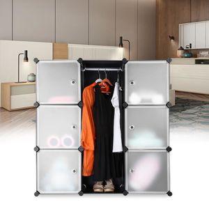 ARMOIRE DE CHAMBRE 9-Cube Système De Rangement - Organisateur Noir -