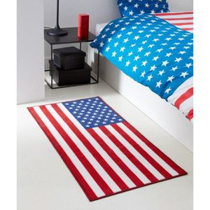 Tapis imprime 60x120 cm semelle latex US DREAM