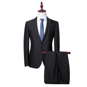 COSTUME - TAILLEUR Costume Cérémonie Homme Noir Mode Cosutme 2 Pièces