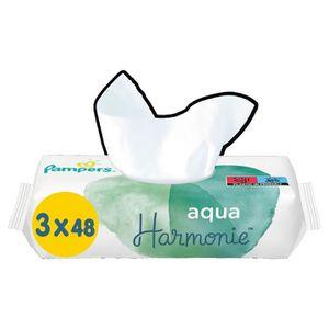 COUCHE PAMPERS Aqua Harmonie Lingettes Pour Bébé - 3x48 -