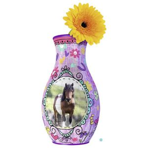 PUZZLE GIRLY GIRL Vase Chevaux (Puzzle 3D)