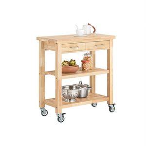 DESSERTE - BILLOT SoBuy® FKW24-N Chariot de Cuisine en Bois Kitchen