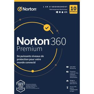 ANTIVIRUS Antivirus Norton 360 Premium 2020* | 1 An | 10 App