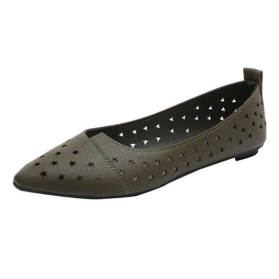 Femmes Flats Pionted Toe Slip-on Hollow Casual Comfortable Shoes  Lazy Shoes vert Vert Vert - Achat / Vente slip-on